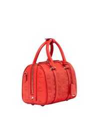 MCM - Red Essential Boston In Monogram Leather - Lyst