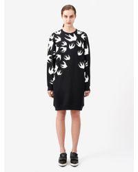 McQ | Black Swallow Signature Sweatshirt Dress | Lyst