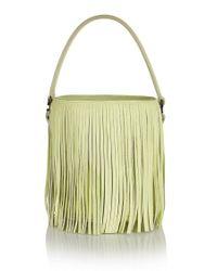 meli melo - Yellow Santina Mini Bucket Bag Lime Fringe - Lyst