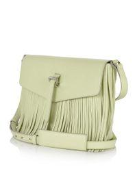 meli melo - Yellow Maisie Medium Cross Body Bag Lime Fringing - Lyst
