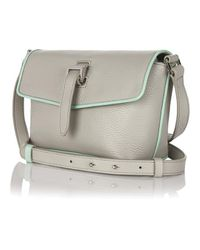 meli melo - Gray Maisie Cross Body Bag Lunar Grey Green Piping - Lyst