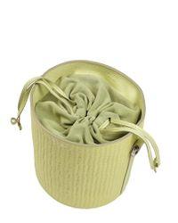meli melo - Yellow Santina Bucket Bag Lime Woven - Lyst