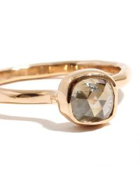 Melissa Joy Manning | Metallic .9 Carat Pale Yellow Square Rosecut Diamond Ring | Lyst