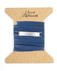 Ursul   Le Lacet Parisien Blue Leather Lace-up Bracelet for Men   Lyst