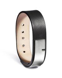 Ursul | U-turn Large Black Leather Bracelet for Men | Lyst