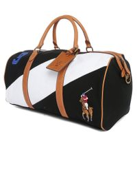 Polo Ralph Lauren   White Two-toned Leather Duffel Bag for Men   Lyst