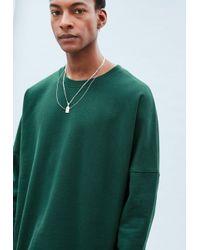 Mennace - Green Drop Shoulder Tape Hem Sweatshirt for Men - Lyst