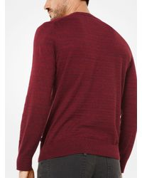 Michael Kors - Red Cotton Pullover for Men - Lyst