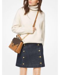 Michael Kors - Multicolor Distressed Wool Turtleneck Pullover - Lyst