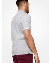 Michael Kors - Gray Greenwich Cotton Polo Shirt for Men - Lyst