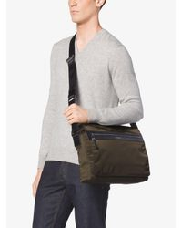 Michael Kors | Green Kent Large Nylon Messenger for Men | Lyst