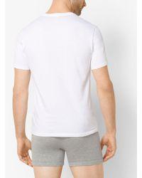 Michael Kors | Multicolor 3-pack Crewneck Cotton T-shirt for Men | Lyst