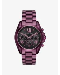 Michael Kors - Purple Bradshaw Plum-tone Watch - Lyst