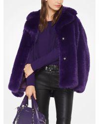 Michael Kors - Purple Cotton-blend Pullover - Lyst
