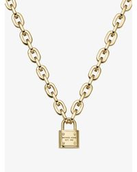 "Michael Kors - Metallic Pave Ring Link Necklace, 28"" - Lyst"