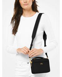 Michael Kors Black Mott Mini Pebbled Leather Crossbody Bag