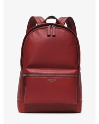 Michael Kors - Red Bryant Leather Backpack for Men - Lyst