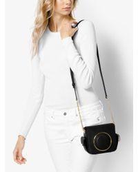 Michael Kors - Black Scout Medium Leather Camera Bag - Lyst