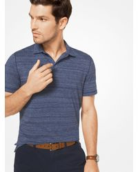 Michael Kors - Blue Space-dyed Cotton Polo Shirt for Men - Lyst