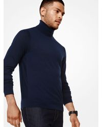 Michael Kors - Blue Merino Turtleneck for Men - Lyst