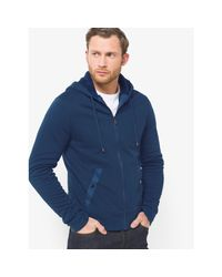 Michael Kors | Blue Sherpa-lined Zip-up French Terry Hoodie for Men | Lyst