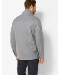 Michael Kors | Gray Wool Field Jacket for Men | Lyst