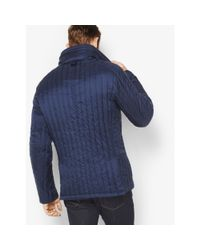 Michael Kors - Blue Nylon Funnel-neck Jacket for Men - Lyst