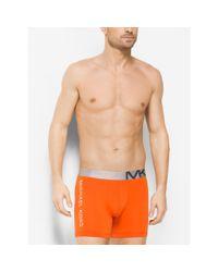 Michael Kors   Orange Microfiber Boxer Brief for Men   Lyst