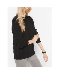 Michael Kors | Black Cotton-blend Shaker Sweater | Lyst
