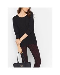 Michael Kors | Black Cotton-blend Sweater | Lyst