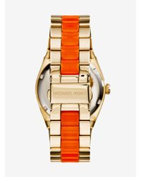 Michael Kors - Metallic Channing Gold-tone Acetate Watch - Lyst