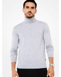 Michael Kors | Gray Merino Turtleneck for Men | Lyst