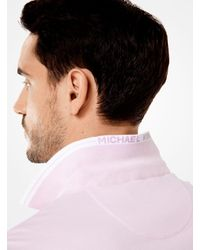 Michael Kors - Pink Greenwich Cotton Polo Shirt for Men - Lyst