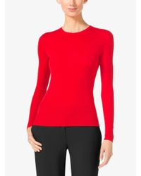 Michael Kors | Pink Featherweight Cashmere Sweater | Lyst