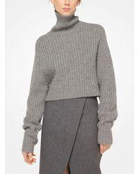 Michael Kors - Gray Wool Scissor Skirt - Lyst