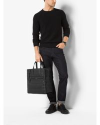 Michael Kors - Black Kent Reversible Startooth Nylon Tote for Men - Lyst