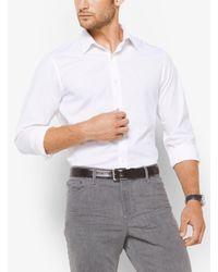 Michael Kors - White Slim-fit Stretch-cotton Shirt for Men - Lyst