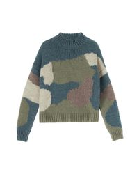 MiH Jeans - Blue Camo Sweater - Lyst