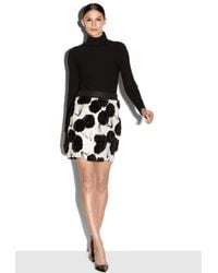 MILLY | Black Exclusive Couture Poppy Fil Coupe Modern Mini Skirt | Lyst
