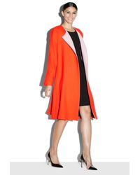 MILLY | Orange Doubleface Wool Dolman Coat | Lyst