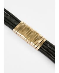 Missguided - Black Metal Detail Choker Necklace - Lyst