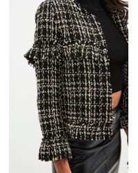 Missguided - Petite Black Boucle Tailored Jacket - Lyst