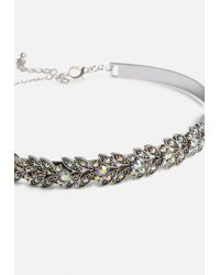 Missguided - Metallic Silver Leaf Torque Ring - Lyst