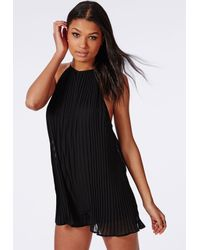 Missguided - Pleated Chiffon Strappy Romper Black - Lyst