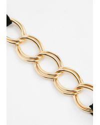 Missguided - Metallic Gold Chain Link Choker Necklace - Lyst