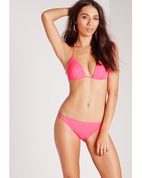 Missguided - Moulded Triangle Bikini Top Hot Pink - Mix & Match - Lyst