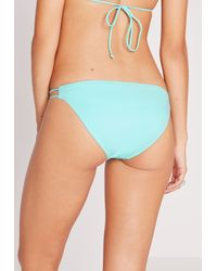 Missguided - Double Strap Bikini Bottoms Mint Green - Mix & Match - Lyst
