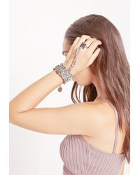 Missguided   Metallic Silver Coin Hand Chain   Lyst