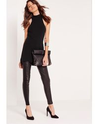 Missguided - High Neck Sleeveless Tunic Black - Lyst