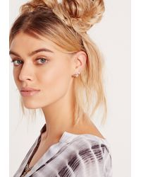 Missguided | Metallic 9 Pack Stud Earrings Set Multi | Lyst